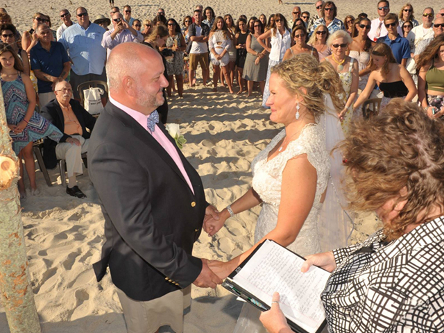 Beach Wedding At Surf's Out Fire Island